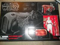 6 Inch Scale Rey's Speeder Jakku The Force Awakens Black Series Star Wars New
