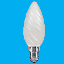 10x 25W Frosted Twisted Candle SES E14 Small Edison Screw Light Bulb Lamp