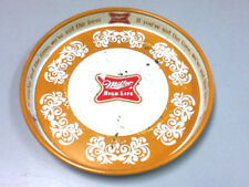 Miller beer serving tray drink cocktail serving metal vintage old brewery SV1