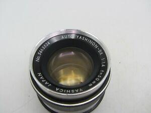 Silver Yashica Auto Yashinon-DX 50mm F1.4 M42 Screw Lens SLR/Mirrorless Cameras