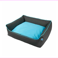 Totally Pooched Explore Bolster Dog Bed, Blue, Large