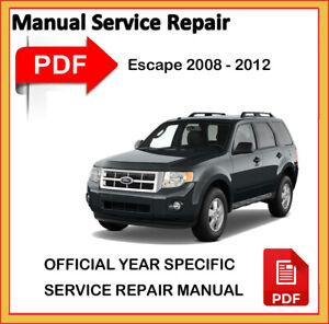 Ford Escape 2009 2010 2011 2012 Factory Service Repair Workshop Manual