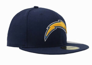 SAN DIEGO CHARGERS NEW ERA HAT 59FIFTY BASIC LOGO NFL FITTED FOOTBALL CAP
