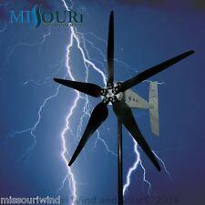 "Raptor G5™ 48 volt 5 blade 1600 watts max wind turbine generator 33"" blades"