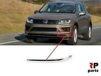 Pour VW Touareg 2014 - 2018 Neuf Avant Pare-Choc Chrome Moulure Bord Gauche N/S