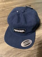 Volcom Scribble Stone Cap Navy Blue Snap Back Brand New With Tags