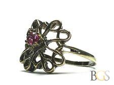 Beautiful Ladies Gold Vermeil Sterling Silver Avon Award Topaz Ring - Size 8.25