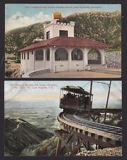 2-California-Pacific Electric Railway-Echo Mtn-Lowe-Train-Station-Postcard Lot