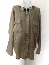 SHAKUHACHI Vintage cotton denim shirt top 38 US2/AU8
