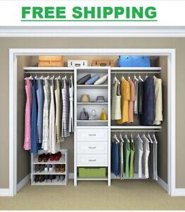 ClosetMaid 25 in. W. White Standard Wood Closet Organizers Kit Shoe Drawer
