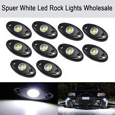 10PCS White CREE LED Rock Light Off-Road Under Wheel Rig Puddle Camper Boat ATV