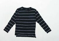 Next Boys Striped Black Top Age 9 Years