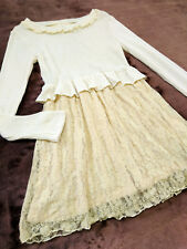 LIZ LISA Dress Japan-M Ivory white Jacquard lace Hime&Lolita Romantic 109fashion
