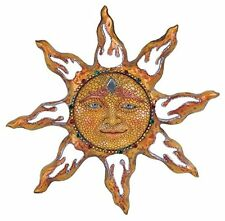 Sun Face Plaque Wall Decor Hanging Deck Patio Yard Porch Garden Fence Art Indoor