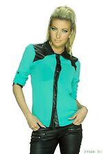 New Ladies Womens Chiffon Shirt Long Sleeve Blouse Casual Tops