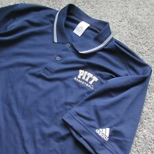 NWOT ADIDAS MEN XL POLO CASUAL PITT UNIVERSITY EMBROIDERED LOGO PITTBURGH NCAA