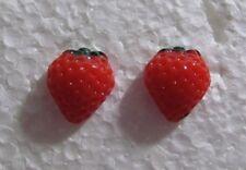 "Strawberry Hypoallergenic Stud Handmade Earrings 1/2"""
