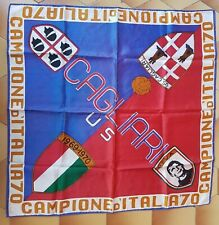 BANDIERA FOULARD SCARF ULTRAS CAGLIARI U.S CAMPIONI D'ITALIA 1969-1970 RARA