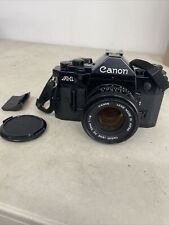 Canon A-1 Film Black Camera With Lens