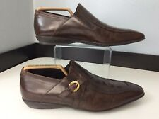 Cesare Paciotti Mens Brown Leather Shoes, Uk 5.5 Eu39.5 Brown Loafers, Vgc