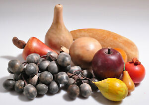 Wooden Fruit & Vegetables Vintage Country Decor Vintage Muted Colors