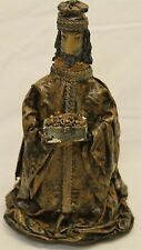 "12"" HAND CRAFTED PAPER MACHE WISE MAN CHRISTMAS FIGURE STATUE"
