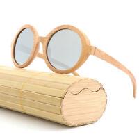 LE New Wooden Frame Glasses Handmade Natural Bamboo Wood Polarized Sunglasses