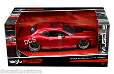 "MAISTO 2008 DODGE CHALLENGER SRT8 RED ""CLASSIC MUSCLE"" 1/24 DIECAST CAR 31327"