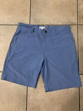 Peter Millar Crown Sport Performance Wicking 2019 Golf Shorts Size 34 Blue EUC