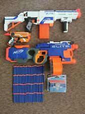 NERF N-Stike Elite BUNDLE Retaliator - Hyperfire - Firestrike - 128 bullets