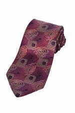 Fendi Pink Floral Spiralgraph Geometric Italian Silk Dress Neck Tie - Perfect!