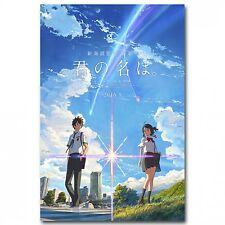 Your Name Japanese Anime Movie Art Silk Poster (12inX18in) Canvas Print Wall
