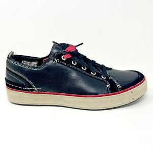 Timberland Mens Jardims Ox Black Red Leather Sneakers 86523