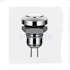 Waterproof 24V 8mm Stainless Steel Metal Momentary Push Button Power Switch K6