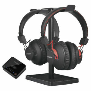 Avantree Dual Bluetooth/Wireless Headphones Over-Ear TV w/ Transmitter/Stand BLK