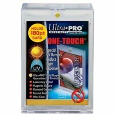 (4)  Ultra Pro Magnetic One Touch 180pt Card Holders UV