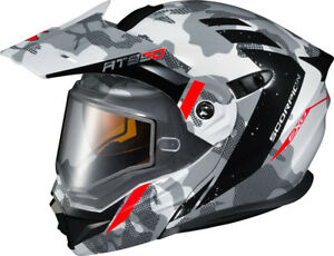 *FREE SHIPPING* SCORPION EXO EXO-AT950 COLD WEATHER HELMET OUTRIGGER WHITE/GREY