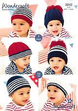 Stylecraft 8942 Knitting Pattern Babies Hats in Stylecraft Wondersoft DK