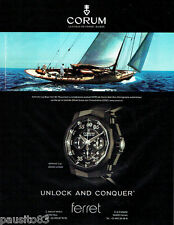 PUBLICITE ADVERTISING  046  2009  montre Admiral's Cup black hull 48 de Corum