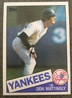 1985 TOPPS DON MATTINGLY BASEBALL CARD #665 IN NRMT/MINT CONDITION!