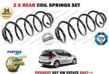 für Peugeot 207 SW Estate 1.6 HDi 1560cc 2007- > NEU 2x Heck Fahrwerksfedern