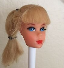 VINTAGE MATTEL TALKING BARBIE DOLL HEAD ONLY BLONDE
