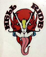 RAT ROD HOT ROD STREET ROD  DECAL STICKER CHOPPER BOBBER  HELL RIDE