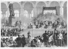 Sisi, Sissi, Empress, Opening Ceremony World Exhibition, Original Wood Engraving 1873