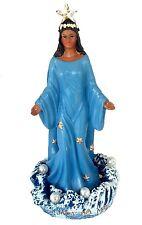 8 Inch Statue Orisha Yemaya Virgen De La Regla Estatua Blue Diosa del Mar