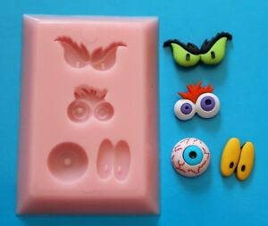 FUNNY EYES SILICONE MOULD FOR CAKE TOPPERS CHOCOLATE CLAY ETC