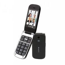 Becco plus pliante seniors téléphone mobile avec de grandes touches écran noir