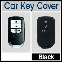 Car Key Cover Case Protector Fits Honda Accord, CRV, Civic 3-Button Remote BLACK