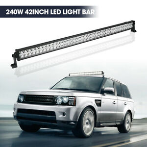 42 Inch Led Light Bar Spot Flood For Offroad 4X4WD LAND ROVER Jeep Driving Light