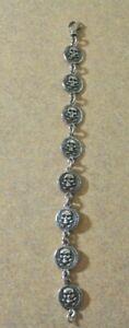 """Vintage KING BABY Sterling 'Skull"""" Mens/Womens Bracelet"""